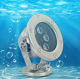Подводный прожектор LED синий IP68 6W 12V, фото 2