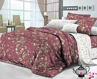 Семейное постельное белье с простыню на резинке 180*200*34 - Венера, сатин 100% хлопок