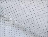 Отрез ткани №491а с серым горошком 3 мм на белом фоне размер 74*160, фото 2