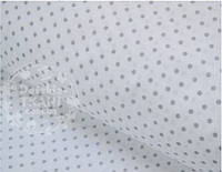 Лоскут ткани №491а с серым горошком 3 мм на белом фоне