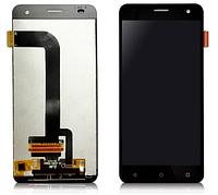 Дисплей (экран) для Fly FS504 Cirrus 2 + с сенсором (тачскрином) черный Оригинал