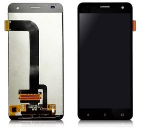 Дисплей (экран) для Nomi i504 Dream с сенсором (тачскрином) черный Оригинал
