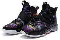 Кроссовки мужские баскетбольные Nike Lebron14 Crazy Colored(найк леброн) черные