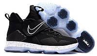 Кроссовки мужские баскетбольные Nike Lebron 14 EP Black Ice (в стиле найк леброн) черные, фото 1