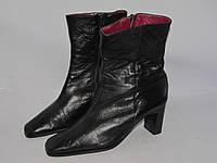Кожаные качественные женские ботинки _Италия _ 39р_ст.25см Н48