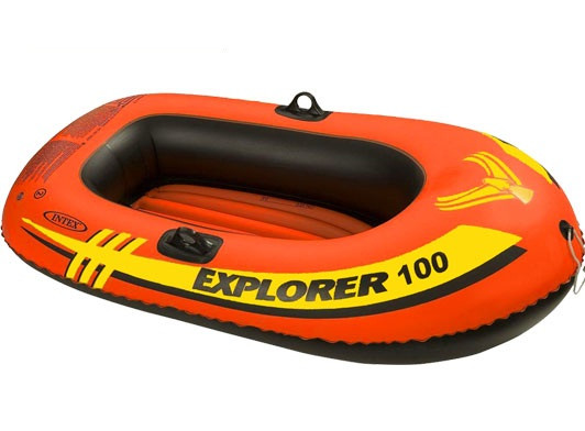 Двухкамерная надувная лодка из ПВХ Intex 58329 Човен 147х84х36 см
