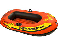 Двухкамерная надувная лодка из ПВХ Intex 58329, с