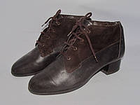 Jenny _Германия _Кожаные комфортные ботинки _ 5р_24.5см Н48