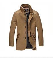 Мужское шерстяное весеннее пальто. Модель 6354, фото 4
