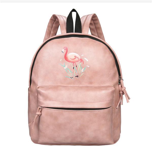Розовый рюкзак Фламинго