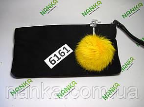 Меховой помпон Кролик, Желток, 8 см,  6161, фото 2