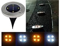 Газонный светильник на солнечной батарее с датчиком освещенности 4LED