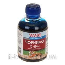 Чернила wwm c45/c cyan canon cl-441/cl-446/cli-451c 200 мл