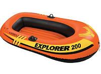 Двухкамерная надувная лодка с надувным дном Intex 58330 гребная лодка