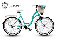 Женский городской велосипед GOETZE BLUEBERRY 26 + корзина