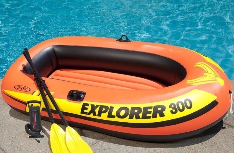 Двухкамерная надувная лодка из ПВХ INTEX 58332 EXPLORER 300 SET - Интернет магазин Balos в Днепре