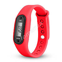 Фитнес браслет часы шагомер счетчик калорий Red II