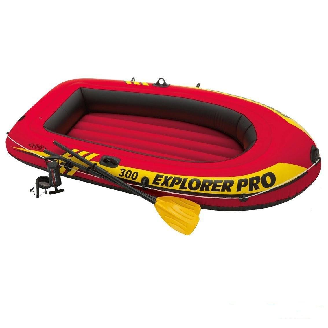 Надувная лодка Intex 58358 Explorer Pro 300 Set гребная лодка Човен 196 х 102 х 33 см