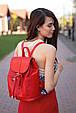 """Кожаный женский рюкзак """"Олсен"""" Рубин, фото 2"""