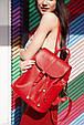 """Кожаный женский рюкзак """"Олсен"""" Рубин, фото 3"""
