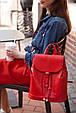 """Кожаный женский рюкзак """"Олсен"""" Рубин, фото 4"""
