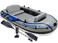 Трехкамерная надувная лодка под транец Intex 68324