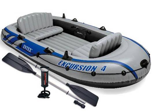 Трехкамерная надувная лодка под транец Intex 68324 Човен