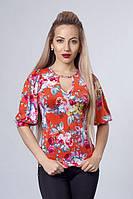 Женская летняя блуза с открытой спиной