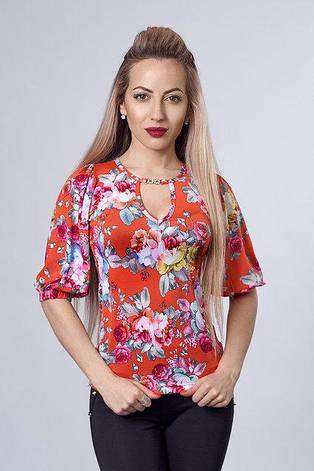 Женская летняя блуза с открытой спиной размеры 46,48,50, фото 2