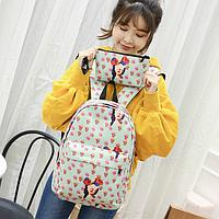 Рюкзак для девочки с модными принтами 2 в 1, фото 1