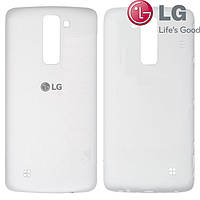 Задняя панель корпуса (крышка аккумулятора) для LG K8 K350E/K350N, белая, оригинал