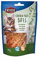 Лакомство Trixie Premio Chicken Filet Bites для кошек с курицей, 50 г, фото 1