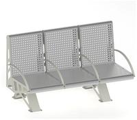 Металлическая скамейка с поручнями