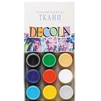 Набор красок по ткани 9штх20мл  Decola