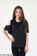 Жіноча молодіжна чорна блузка Izabella