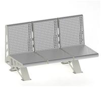 Металлическая скамейка без поручней