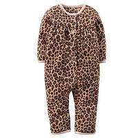 Леопардовый флисовый комбинезон carters с открытыми ножками