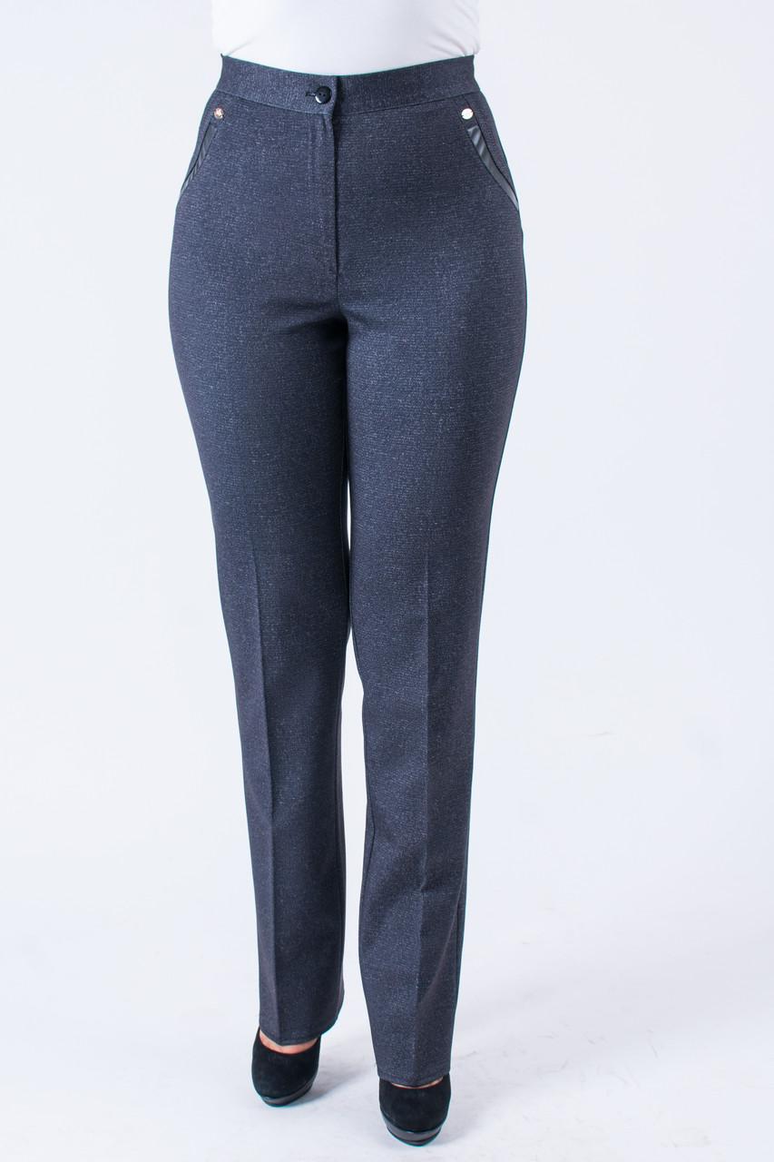 Женские офисные брюки серого цвета