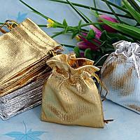 Мешочек парча (вельвет) золото/серебро 9х12 см 100 шт в уп.