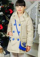 Пальто на девочку Дольче3   весна-осень + сумочка 116см до 140см