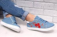 """Кеды """"Сакура"""" джинсовый голубые  код 16681"""
