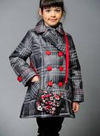 Пальто на девочку Дольче4   весна-осень + сумочка 116см до 140см