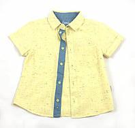 Льняная рубашка для мальчика Бемби, желтый (р.104,110,116)