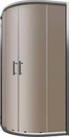 Душевая штора Cersanit Нама 90x90x190 полукруглая, профиль хром, стекло бронза
