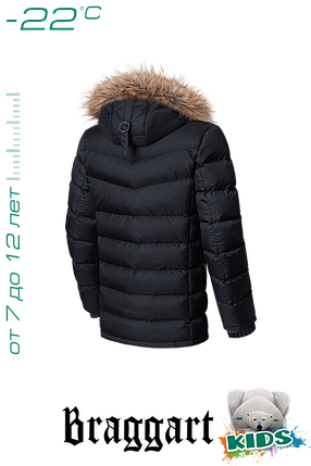 Зимняя куртка на мальчика с мехом Braggart Kids (р. 34-40) арт. 6336, фото 2