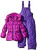 Раздельный зимний сиреневый комбинезон Pink Platinum(США) для девочки 18мес