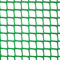Сетка пластиковая 'забор' (яч. 13х13 мм/ рул. 1х20 м) (зеленая) Клевер 47569 (Украина)