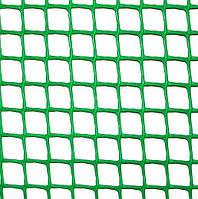 Сетка пластиковая 'забор' (яч. 20х20 мм/ рул. 1х20 м) (зеленая) Клевер 47575 (Украина)