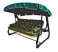 Качеля садовая Spring-Swing Barokko Green-Gold (БЕСПЛАТНАЯ ДОСТАВКА ПО УКРАИНЕ) 700100