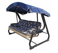 Качеля садовая Spring-Swing Barokko Blue-Gold (БЕСПЛАТНАЯ ДОСТАВКА ПО УКРАИНЕ) 700110